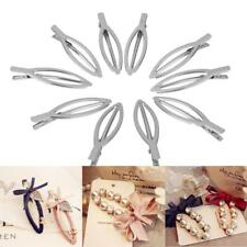 10 Silver Tone Duck-bill Clips Clamps Hair Bow Pin Hairpins DIY Craft