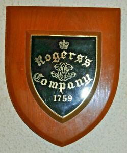 Vintage 30 Battery (Rogers's Company) Royal Artillery regimental plaque shield