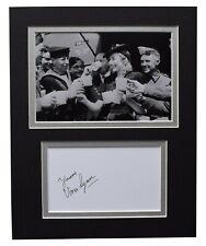 Vera Lynn Signed Autograph 10x8 photo display WW2 Music Memorabilia AFTAL COA