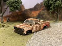 1979 Chevy C10 Truck Rusty Weathered Barn Find 1/64 Diecast M2 Custom M2 Pickup