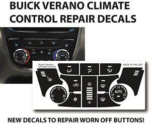 13 14 15 Buick Verano HVAC Climate Control 20914370 Button Decal Repair Set
