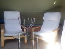 2x Stück IKEA PELLO Schwingsessel + Glastisch + Ikea Kerzenständer