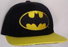 Hat Cap Licensed DC Comics Batman Under Flat Bill Black Yellow CC