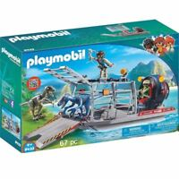 Playmobil 9433 Boat with Cage Vehicle Toy Playset