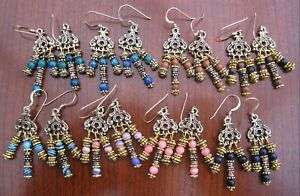 Gemstone Chandelier 14ct Gold Filled Earrings - Manmade Beads