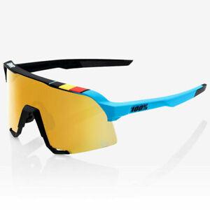 100% Glasses S3 Bwr Black - Soft Gold Mirror + Lens Clear