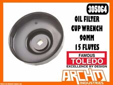 Toledo 305064 - Oil Filter Cup Wrench - 90Mm 15 Flutes