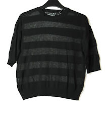 BLACK LADIES LIGHTWEIGHT CASUAL JUMPER SIZE XS ATMOSPHERE SEE THROUGH
