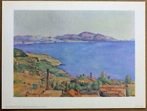 Paul Cezanne  Gulf of Marseille  Rare Vintage Original 1960 Ltd Ed Lithograph