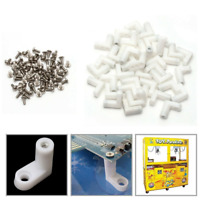 50pcs arcade L Type PCB  Mounting Feet with Screw for JAMMA MAME Game PCB Board