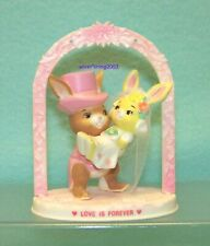 CAKE TOPPER LOVE IS FOREVER BUNNY BRIDE & GROOM Sold by Mc CRORY Closed in 2002