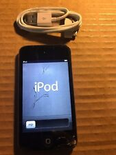 Apple iPod touch 4th Generation Black (8GB) Working Cracked Screen IOS 6.1.6