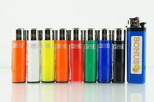 8 pcs Refillable Clipper Mini Size Lighters With Smiley Bonus Lighter