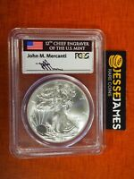 2015 SILVER EAGLE PCGS MS70 FLAG MERCANTI FIRST STRIKE LABEL