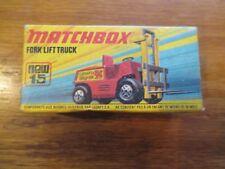 MATCHBOX FORK LIFT TRUCK 1972 LESNEY w Free ship!