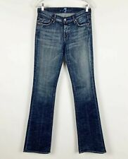 7 For All Mankind Distressed Low Rise Bootcut Signature Jeans Size 27 X 33