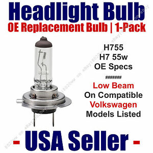Headlight Bulb Low Beam OE Replacement 1pk Fits Listed VW Volkswagen - H7 55