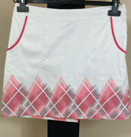 IZOD Women's/Ladies Golf Skirt Skorts Size 2 White - Free Shipping