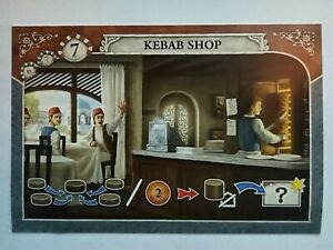 istanbul kebab shop / donerbude mini promo expansion card German + ENGLISH