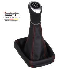 ICT echt Leder Schaltknauf Schaltsack Opel Tigra Twintop Meriva A rote Naht C65