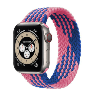 BRAIDED SOLO LOOP FOR APPLE WATCH BAND Series 6/SE/5/4/3/2/1 44MM 40MM 42MM 38MM