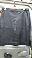 PURE COLLECTION LADIES BLACK LEATHER SKIRT SIZE 18