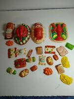 75+ MID CENTURY Toy Pretend  Plastic Toy Food - Dolls Lobster Prime Rib Turkey