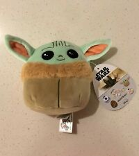 "Squishmallow Disney Star Wars Plush 5"" Mini Baby Yoda The Child. RARE Fast Ship"