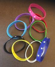 Star Rubber Bracelet / Wristband ** 10 supplied **