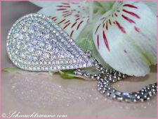 Gut geschliffene Echtschmuck-Halsketten & -Anhänger im Collier-Stil aus Weißgold