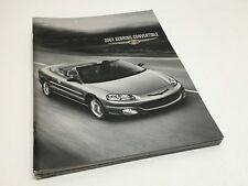 2001 Chrysler Sebring Convertible LX LXi Limited Brochure