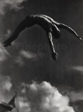 1936 Vintage Diver Mid Air By KARL OESER Semi Nude Male Physique Photo Art 16x20