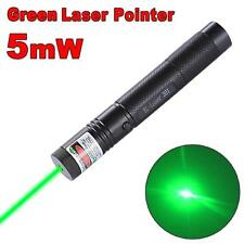 Green Laser Pointer Pen Focus Adjustable 532nm Zoomable Burning Lazer & Key TR