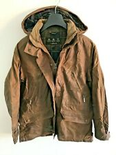 Womens Barbour wax jacket coat 42 in size 10/12 M/L Hooded Coldstream