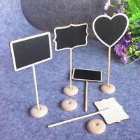 12X Mini Blackboard Chalkboard Wooden Rectangle Seat Labels Message Board Holder