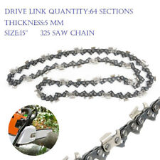 """NEW 15"""" CHAINSAW CHAINS .325 Pitch 64 DL Drive Links REPLACEMENT SAW SPARE PARTS"""