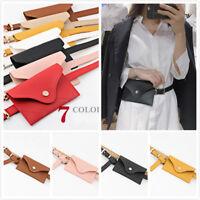 UK NEW Womens PU Leather Mini Belt Bag Waist Fanny Pack Key Phone Purse Wallet