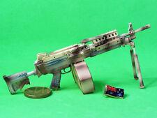 MK46_F MK46 Mod 0 Figure Para Stock Camouflage M249 Light Machine Gun Model 1:6