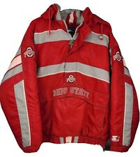 New listing Ohio State University Buckeyes Starter Hooded Pullover Jacket Mens Large Read