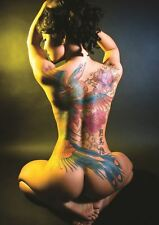 SEXY TATTOO ASIAN A3 POSTER PRINT GZ1230
