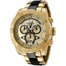 Invicta Reserve Leviathan II Swiss Quartz Chrono 18k Gold-Plated SS Men's Watch