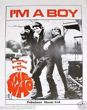 """The Who """"I'M A Boy"""" Poster: 60's Group With Townshend, Daltrey, Moon, Entwistle"""