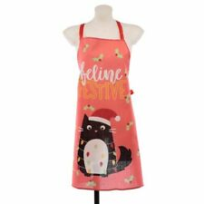 Puckator Festive Feline Cat Apron Fun Novelty Cooking Overalls Christmas Cats