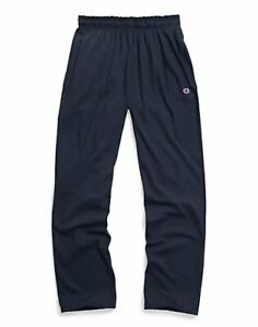 Champion Men's Open Bottom Jersey Pants Gym w/ Pockets Authentic Light Weight