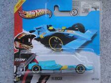 Hot Wheels 2013 # 129/250 F1 corredor azul HW Racing pista estrellas