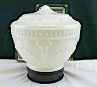 """Antique White Glass Ceiling Lamp Shade-6"""" fitters edge-Large School House Light"""