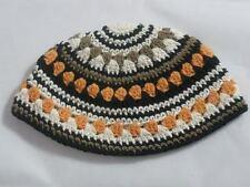 Orange Freak Yarmulkah Jewish Kippah Kippot Kipah Knitted Judaica Kipa Knit פריק
