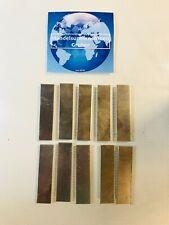 Aluminium - Alu - Aluplatten - Unterlegplatten - Aluminiumplatten - 10 Stück