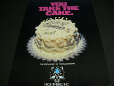 Premier Talent Best Agency On Planet Earth You Take The Cake vintage Promo Ad