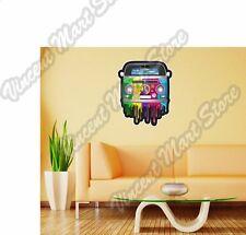 "Hippie Van Dripping Rainbow Paint Love Wall Sticker Room Interior Decor 20""X25"""